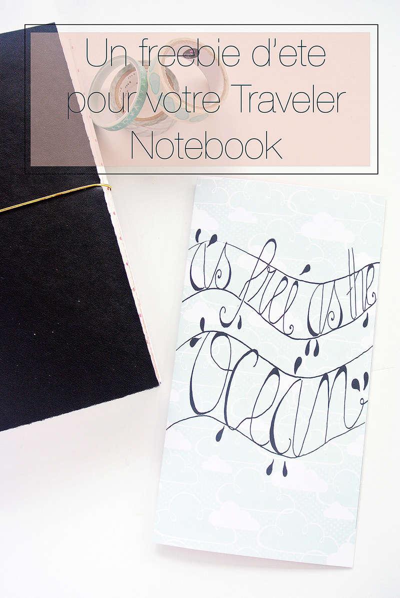 Papier & Moi - Freebie d'été Traveler Notebook