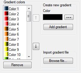 Manage gradients colors