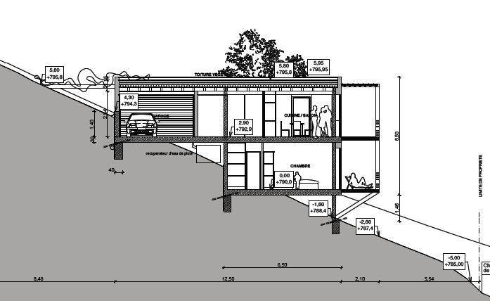 murs greb sur poteaux dalles b ton. Black Bedroom Furniture Sets. Home Design Ideas