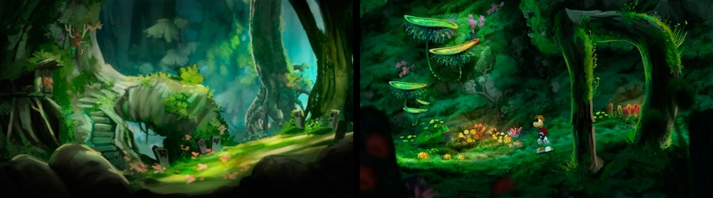 Artwork Rayman Origins Jungle à Bafouilles