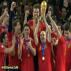 اسبانيا تفوز 1-0 على هولندا وتتوج بطل كأس العالم 2010