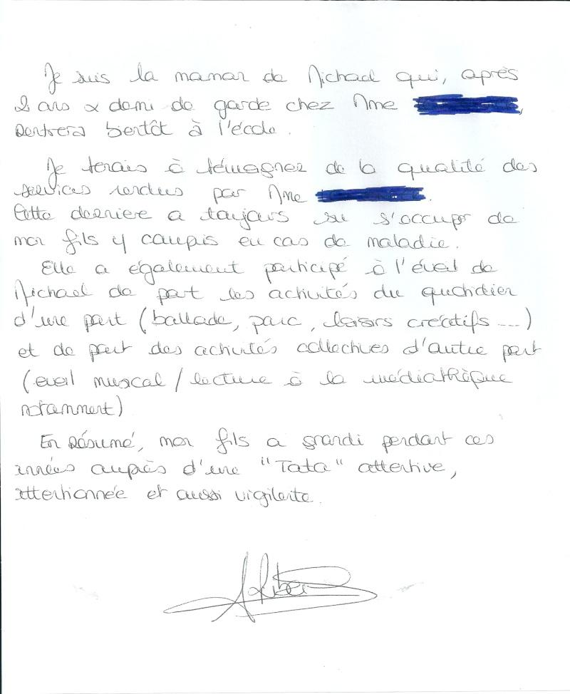 mod u00e8le lettre de fin de contrat nounou