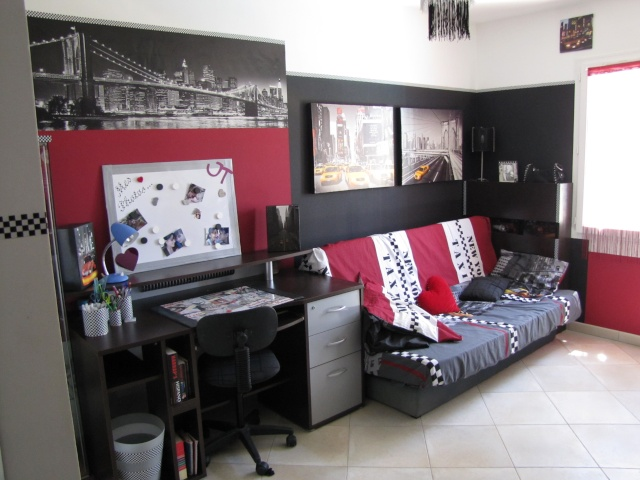 d co chambre ado chambre city chambre new york marilyn. Black Bedroom Furniture Sets. Home Design Ideas