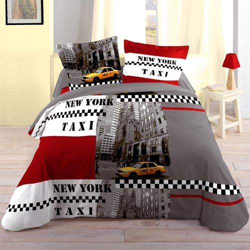 D co chambre ado chambre city chambre new york marilyn for Housse de couette rouge et noir