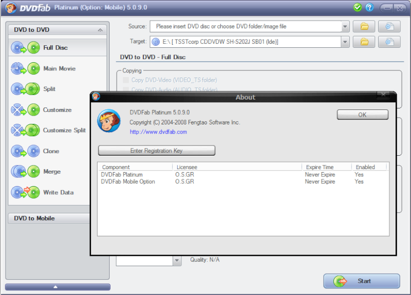 DVDFab Platinum 5 0 9 0 Final By Gregory preview 0