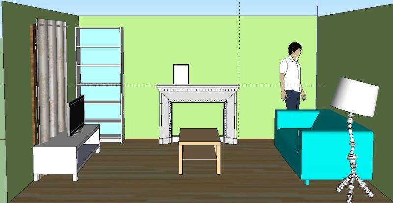 La maison de cha francky le salon est fini place a la for Salon 3m de large