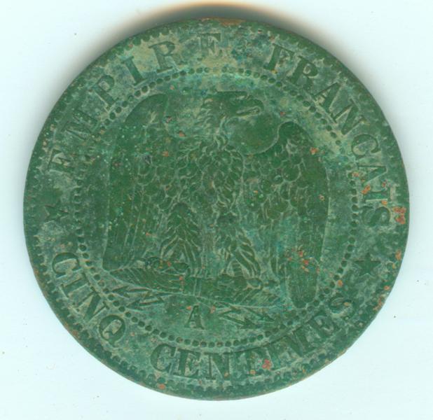 IIe Empire - Napoléon III - 5 centimes 1862 A