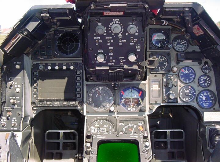 YF16 - Cockpit and instrument panel layout - F-16 Design & Construction