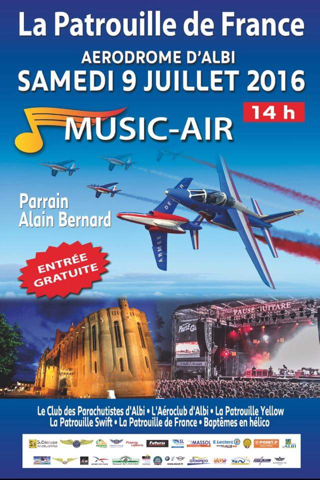 Music Air ,patrouille de france 2016, Meeting Aerien albi, Meeting Aerien 2016,Airshow 2016, French Airshow 2016