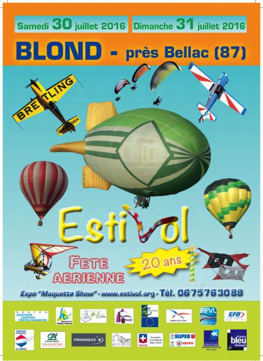 Festival Estivol 2016, 20ème ANNIVERSAIRE ESTIVOL,Les Meetings de l'Air édition 2016, Meeting Aerien 2016,Airshow 2016, French Airshow 2016
