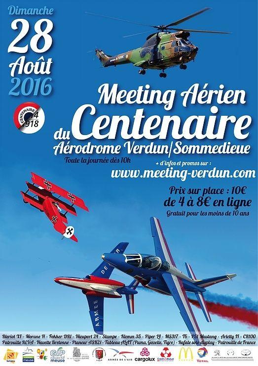 Meeting Aerien du Centenaire Verdun 2016,Manifestation aérienne Lorraine,aérodrome de VERDUN SOMMEDIEUE Le Rozelier,Meeting Aerien Centenaire Verdun 2016, French Airshow 2016