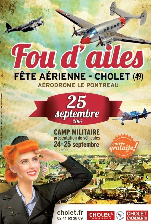 Fou d'Ailes 2016, Meeting Aerien aérodrome Cholet 2016, Meeting Aerien 2016, French Airshow 2016