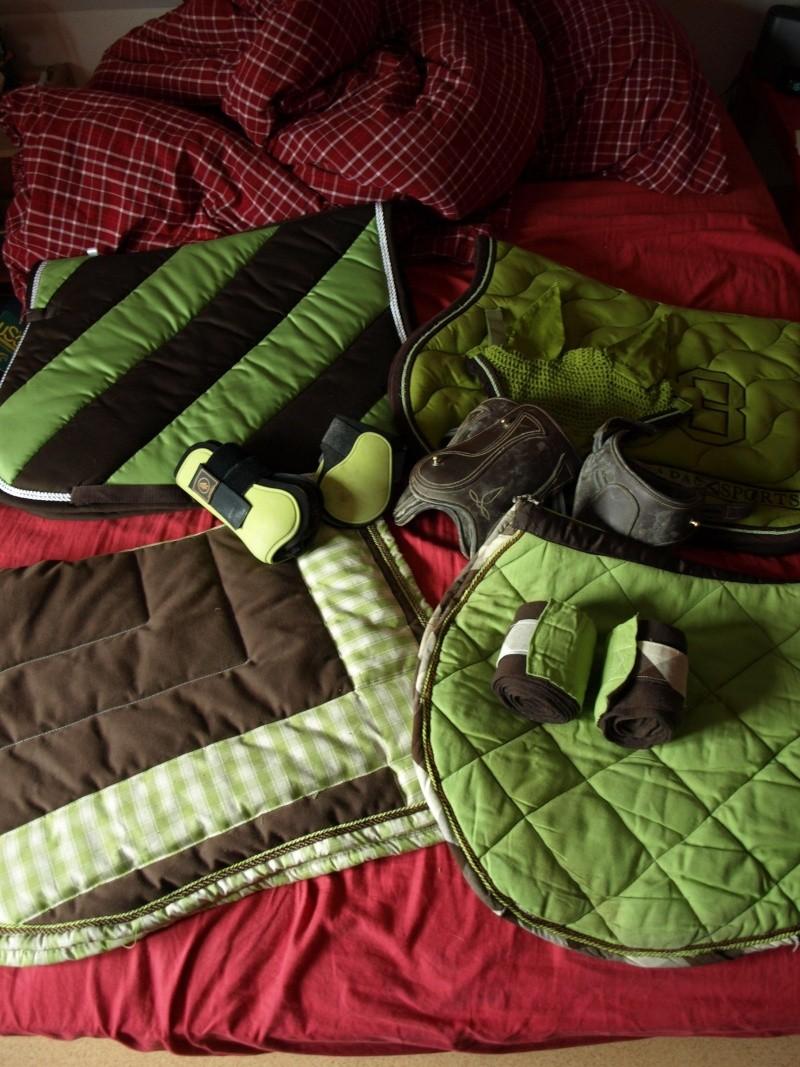 Bonnet cheval vert pomme Tapis cheval vert pomme