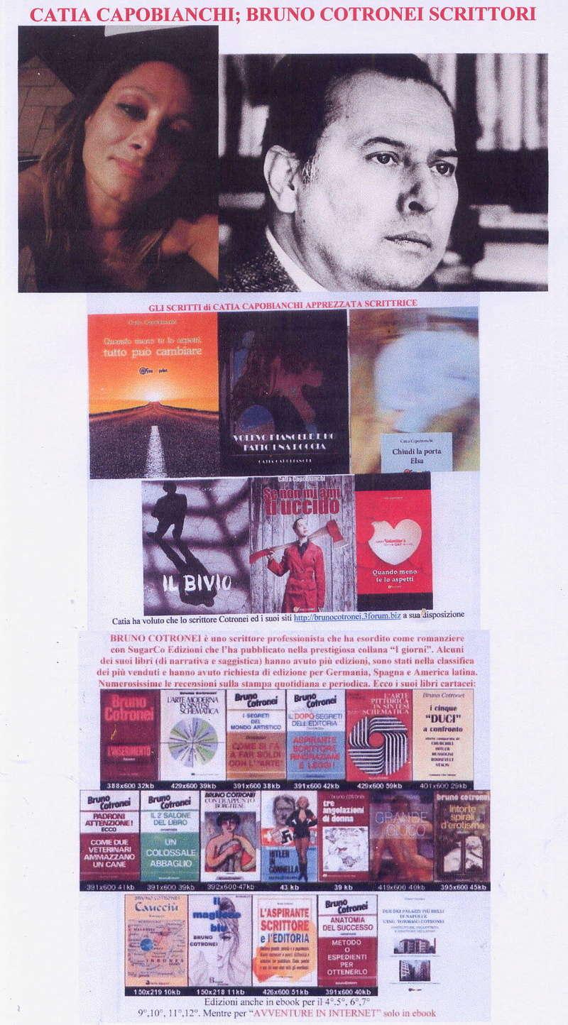 CATIA CAPOBIANCHI ; BRUNO COTRONEI scrittori