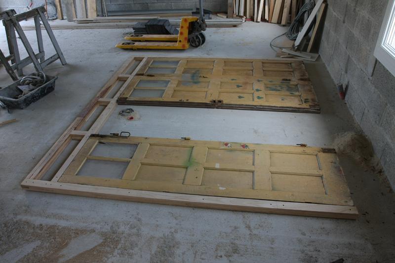 Restauration d'une porte de garage Page 1 # Fabriquer Une Porte De Garage En Bois