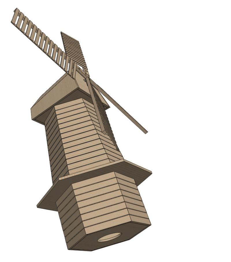Moulin a vent page 3 for Plan de moulins