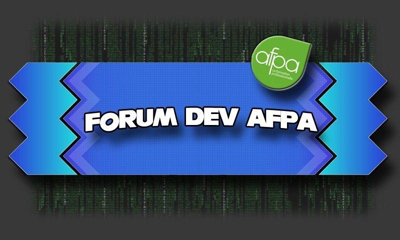 Forum des développeurs AFPA 2016