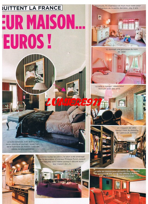 interieur maison johnny hallyday marne la coquette. Black Bedroom Furniture Sets. Home Design Ideas