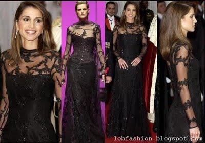 Robe noir dentelle nancy ajram