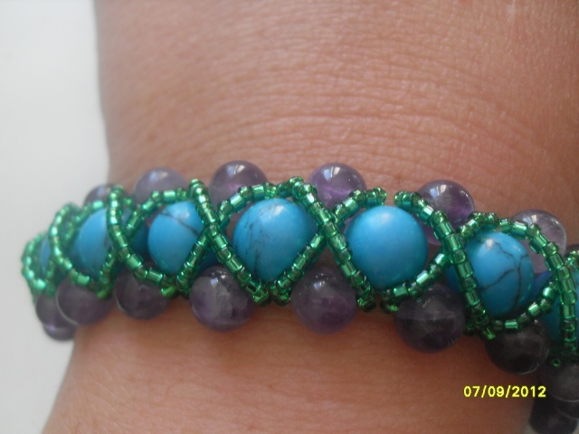 turquoise et amethyste
