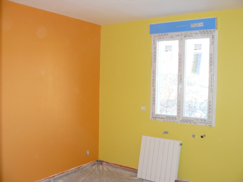 chambre orange et jaune mise en situation chambre bb orange et jaune - Orange Chambre Bebe