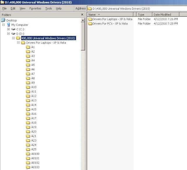 Universal Windows XP Vista Drivers Mb