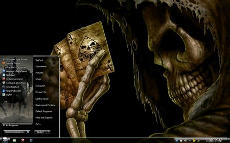 Windows 7 Theme : Evil Side Grim Reaper