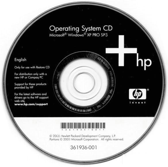 Microsoft Windows XP Professional Dell OEM Integrated August 2010
