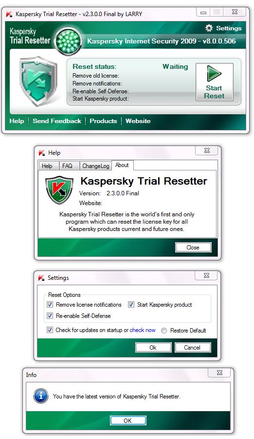 ����� �������Kaspersky ������� ���������