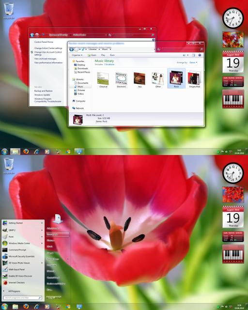 Snow Leopard & Aero Revised windows 7 theme