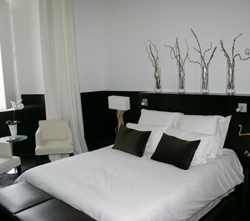photos de chambre contemporaine. Black Bedroom Furniture Sets. Home Design Ideas