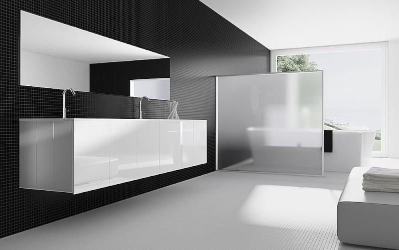 Salle De Bain En Noir Et Blanc. Trendy Salle De Bain Noir Blanc With ...