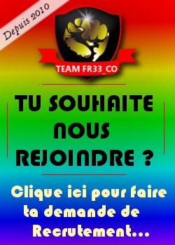 Recrutement team fr33_co csgo