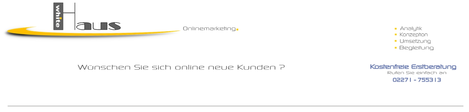 white Haus Onlinemarketing