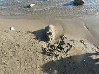 Le banc de sable mouillé dans GRUISSAN p1200210
