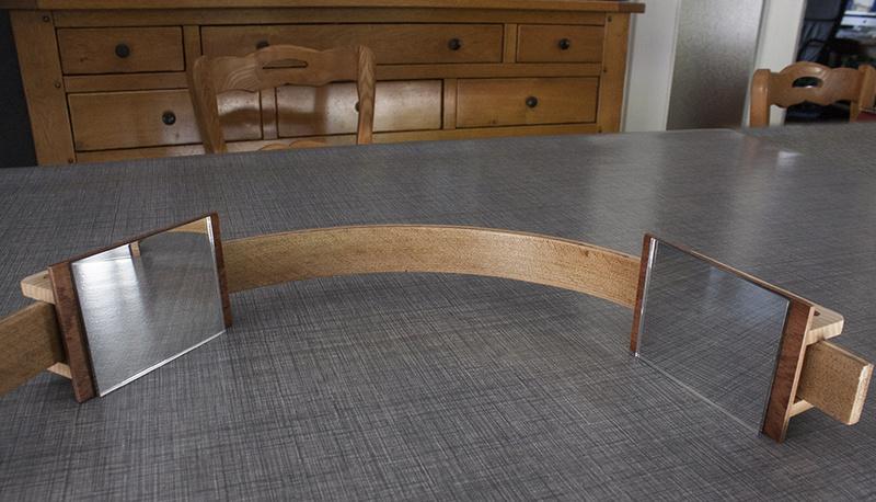 Fabrication deux miroirs pour se regarder l oreille for Fabrication miroir