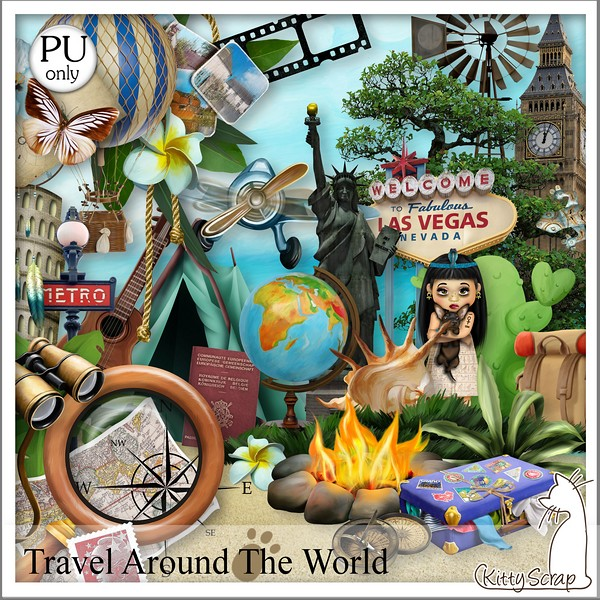Travel around the world de Kittyscrap dans Août kittys20