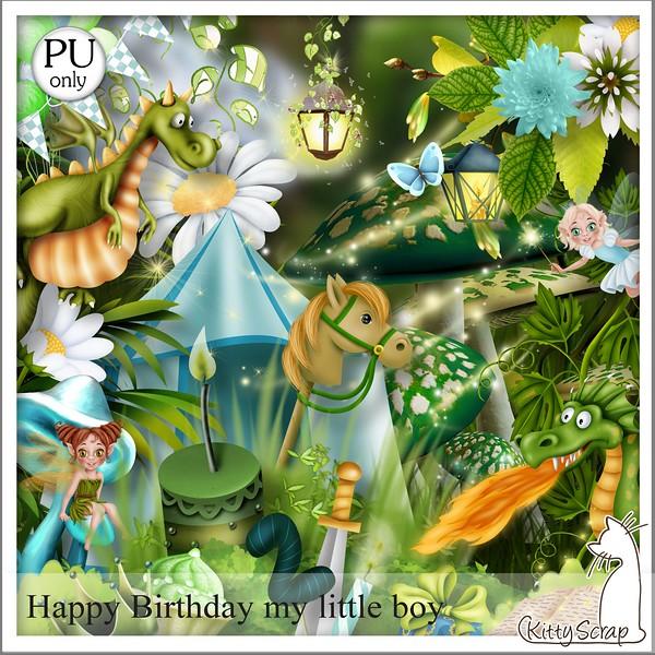 Happy birthday my little boy de Kittyscrap dans Septembre kittys27