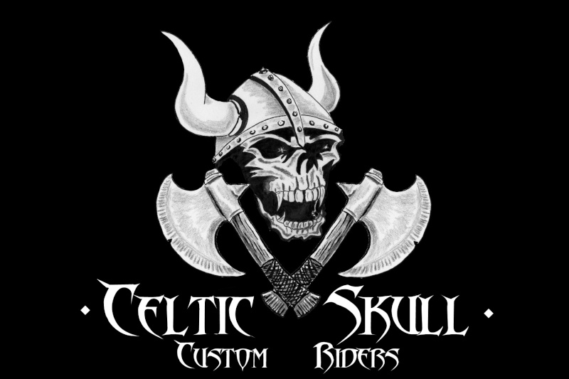 celtic skull custom riders