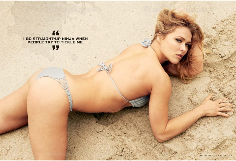 Ronda Rousey gets cover of September's issue of Maxim Magazine