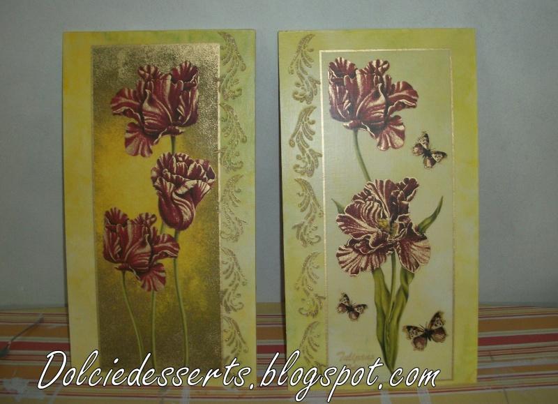 Set di quadri floreali con stencil in rilievo ilovedesserts for Quadri in rilievo