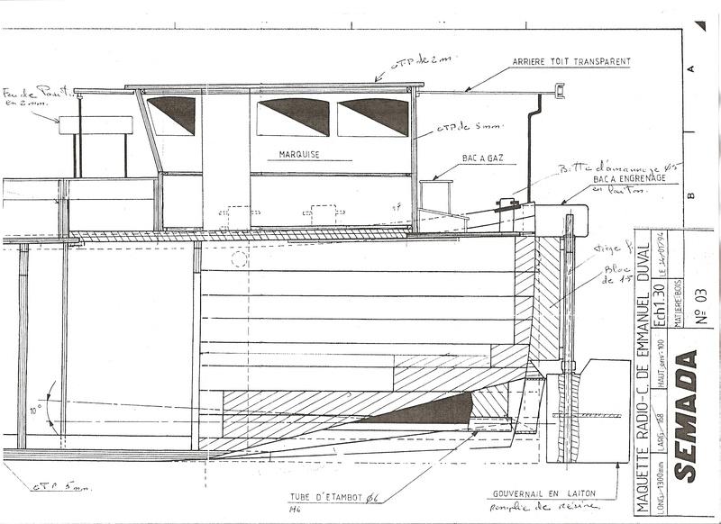 peniche FORGE DE STRASBOURG sur plan 125 ~ Plan Maquette Avion Bois Gratuit