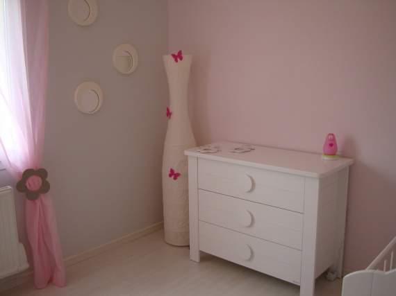 peinture chambre fille rose et blanc - Peinture Chambre Fille Rose Et Blanc