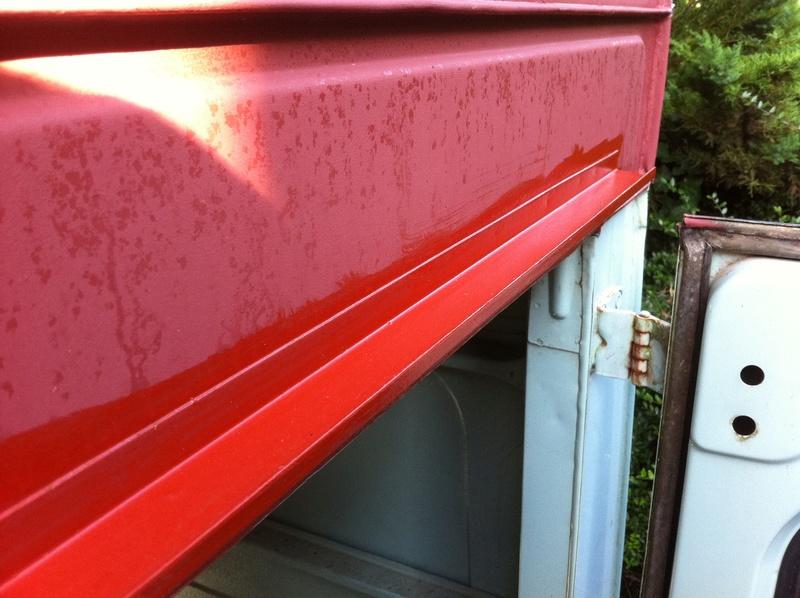 R fection du toit puis du reste fourgon - Peinture antirouille blanche ...