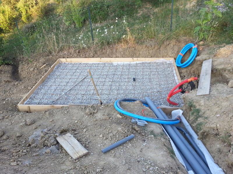 Radier arm pour olivia2 sur argile for Radier piscine beton